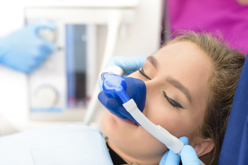 woman having sedation dentistry